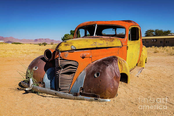 Photograph - Old And Abandoned Car In Solitaire, Namibia by Lyl Dil Creations