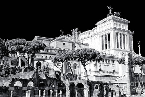 Photograph - Old And New At The Altare Della Patria In Rome by John Rizzuto