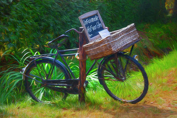 Photograph - Old Antique Bicycle Painting by Debra and Dave Vanderlaan