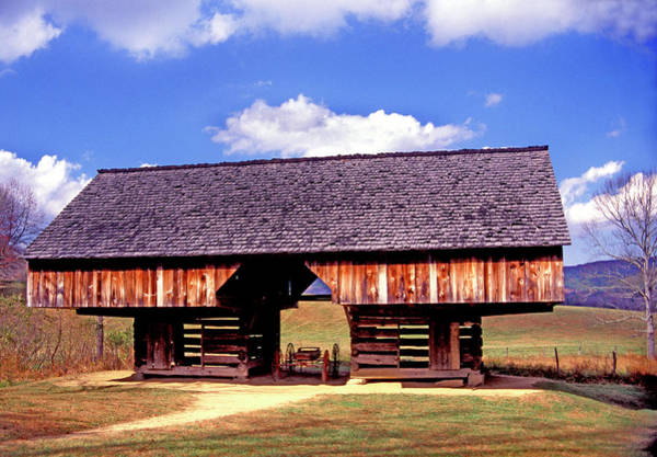 Photograph - Old Appalachian Cantilevered Barn by Paul W Faust - Impressions of Light