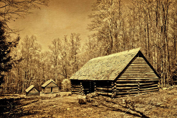 Photograph - Old Appalachian Log Barn by Paul W Faust - Impressions of Light