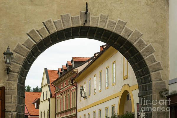 Photograph - Old Archway With A View Of Pretty Buildings by Les Palenik