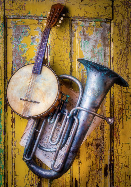 Wall Art - Photograph - Old Banjo And Tuba by Garry Gay