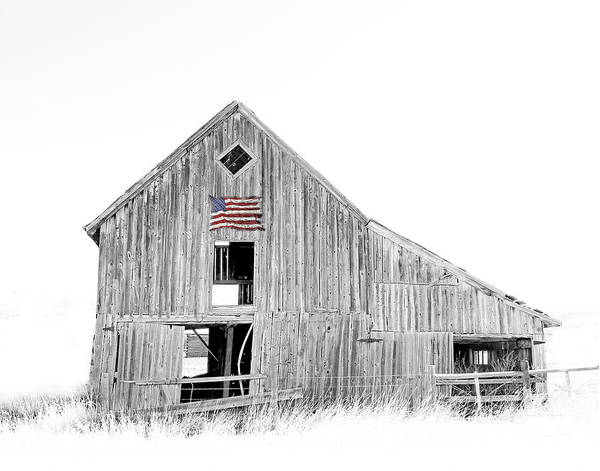 Wall Art - Photograph - Old Barn Black And White by Jennie Marie Schell