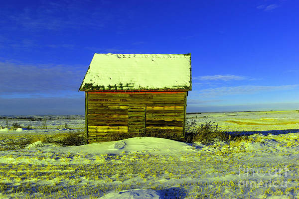 Isolator Wall Art - Photograph - Old Barn In Winter by Jeff Swan
