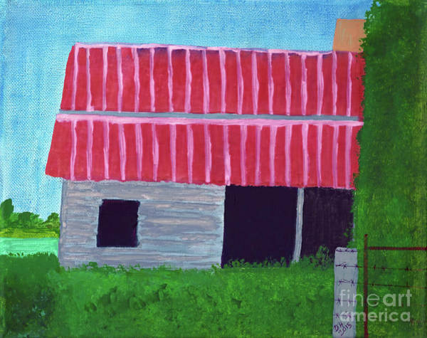Painting - Old Barn - Painted by D Hackett