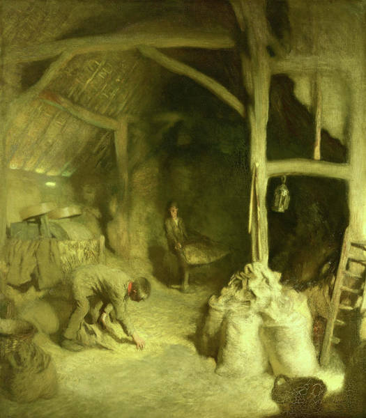 Wall Art - Painting - Old Barn by Sir George Clausen