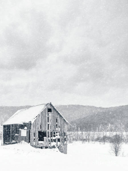 Wall Art - Photograph - Old Barn Snowstorm by Edward Fielding