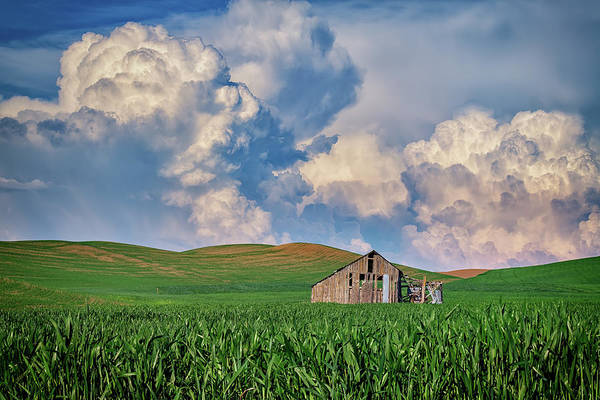 Wall Art - Photograph - Old Barn Under Gathering Clouds by Rick Berk