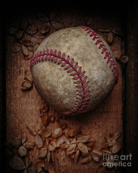 Photograph - Old Baseball Still Life Box by Edward Fielding