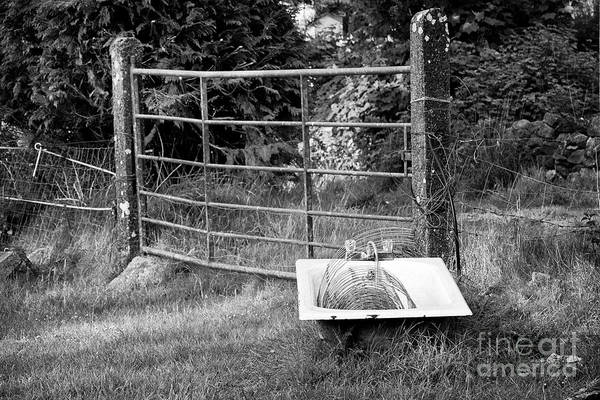 Wall Art - Photograph - Old Bath Used As A Livestock Watering Trough In Rural Ireland by Joe Fox