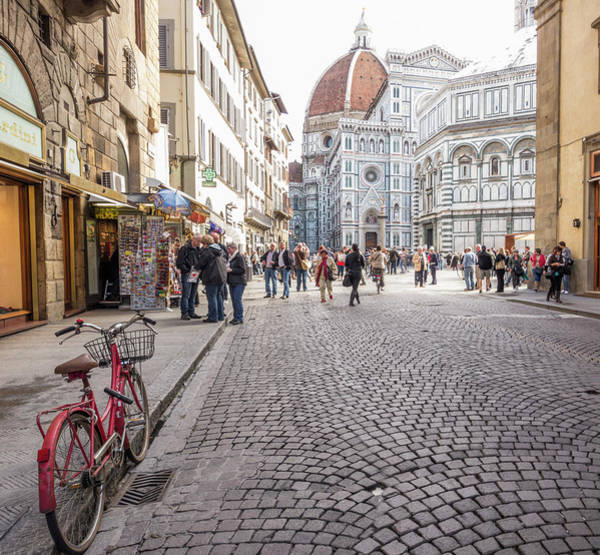 Old People Photograph - Old Bicycle Near The Duomo by Ben Miller
