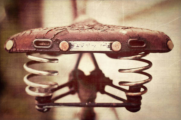 Bicycle Photograph - Old Bicycle Seat by Capturing Faces, Spaces And Places