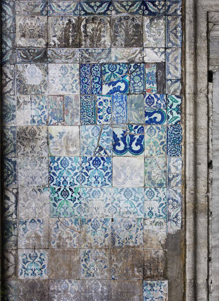 Wall Art - Photograph - Old Blue Mosaic by Johner Images