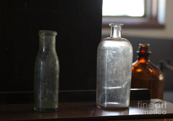 Photograph - Old Bottles At Fort Stanton New Mexico by Colleen Cornelius