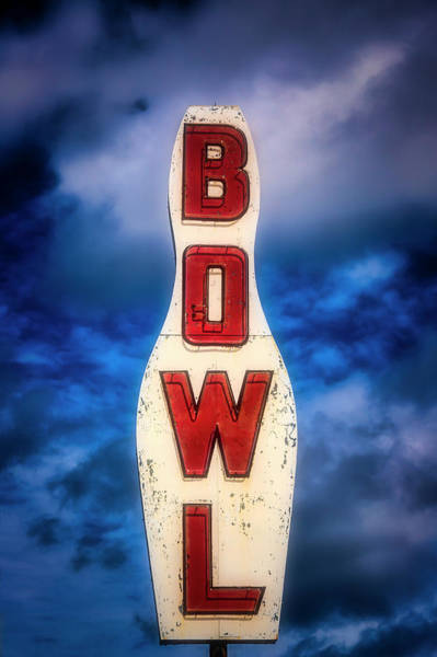 Wall Art - Photograph - Old Bowling Alley Sign by Garry Gay