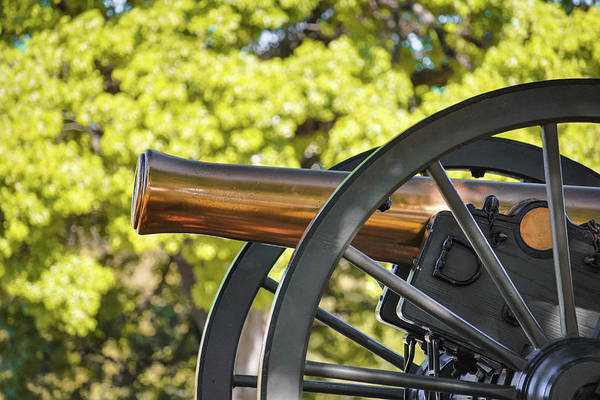 Photograph - Old Brass Cannon - Texas Capital Building - Austin by Gregory Ballos