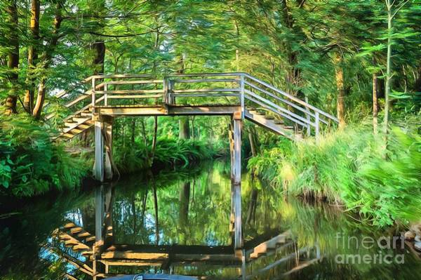 Photograph - Old Bridge In The Spreewald by Eva Lechner