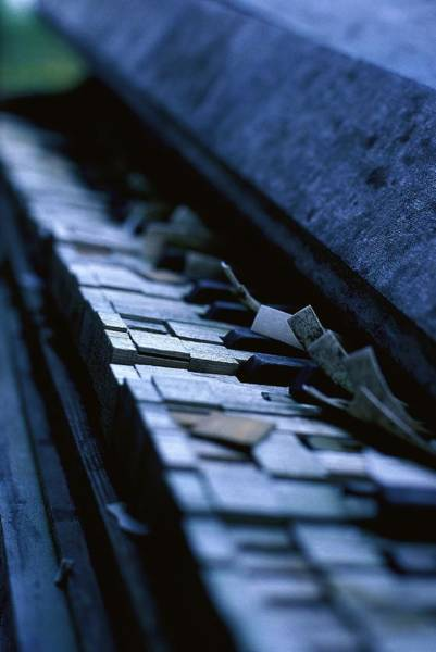 Piano Photograph - Old Broken Piano Keys by Matthias Tunger / Look-foto