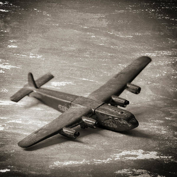 Damaged Photograph - Old Broken Toy Aircraft by James A. Guilliam