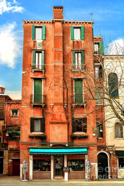 Photograph - Old Building At Ghetto Vecchio Venice by John Rizzuto