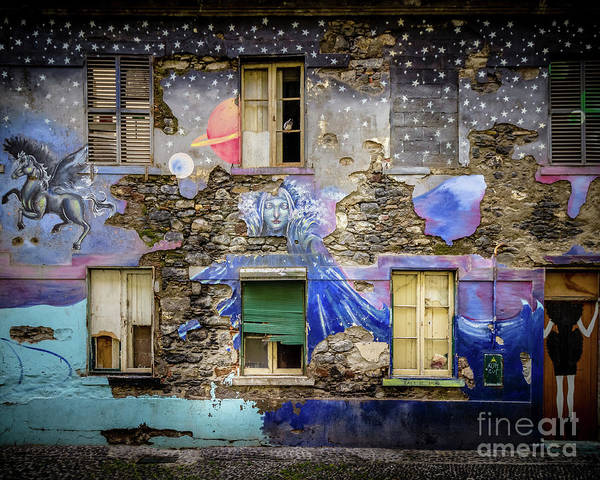 Wall Art - Photograph - Old Building Mural In Funchal, Madeira, Portugal 2 by Liesl Walsh