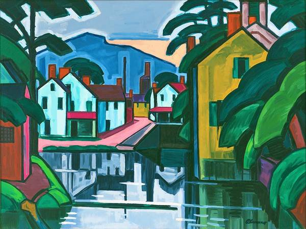 Wall Art - Painting - Old Canal Port - Digital Remastered Edition by Oscar Bluemner