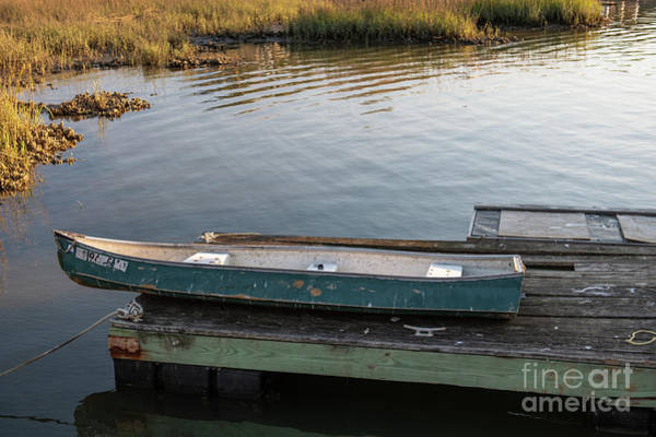 Photograph - Old Canoe On Dock In Shem Creek by Dale Powell