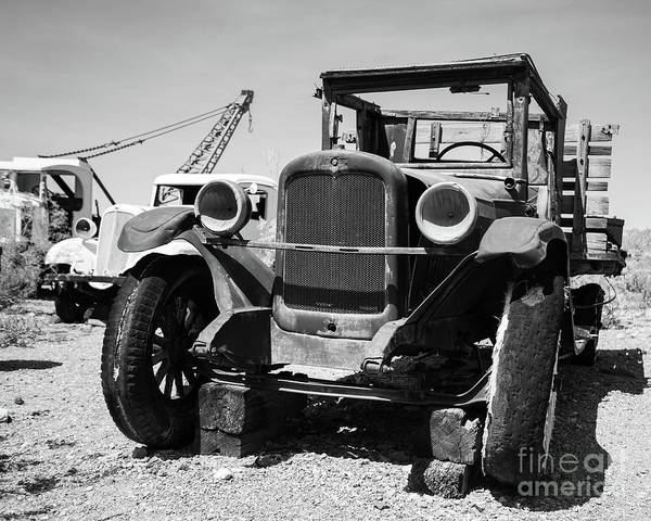 Photograph - Old Chevy Work Truck In The Desert by Edward Fielding