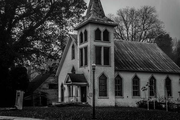 Photograph - Old Church - Bw by James L Bartlett