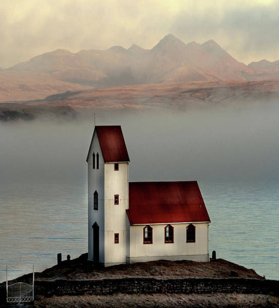 Standing Photograph - Old Church by Sverrir Thorolfsson Iceland