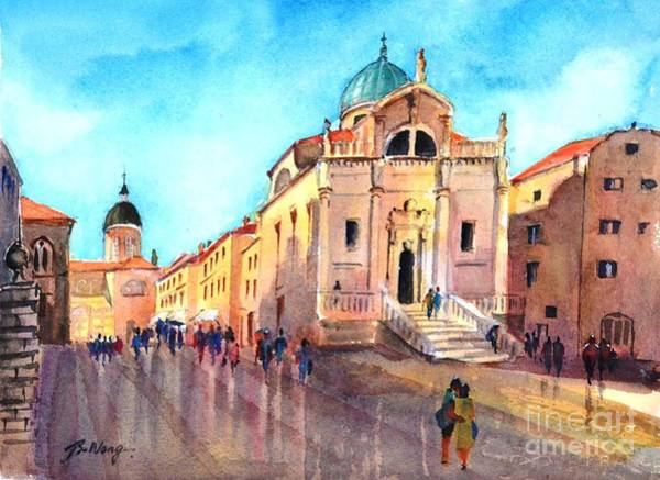 Painting - Old City Of Dubrovnik by Betty M M Wong