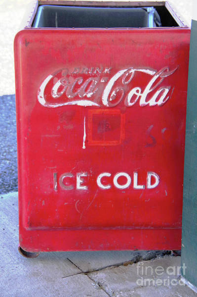 Wall Art - Photograph - Old Coca Cola Cooler by Jeff Swan