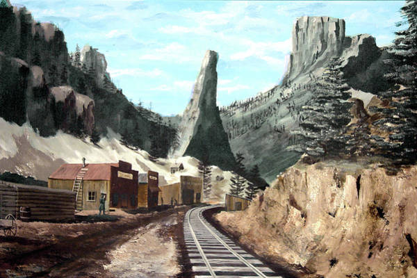 Painting - Old Creede by Sam Sidders
