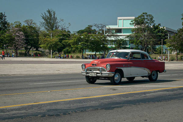 Photograph - Old Cuban Car by Laura Hedien