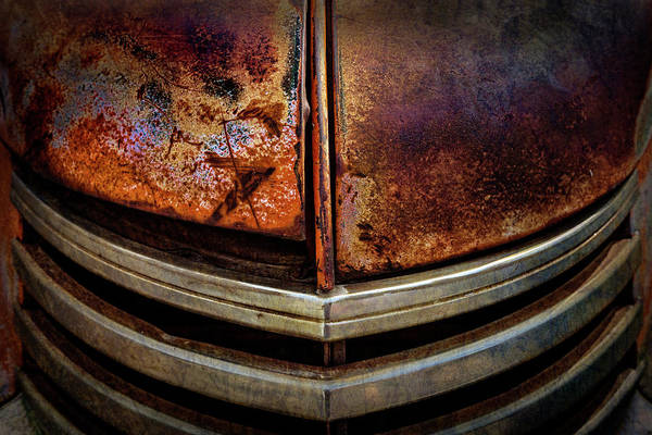 Photograph - Old Dodge Pickup Truck Grill by Teri Virbickis
