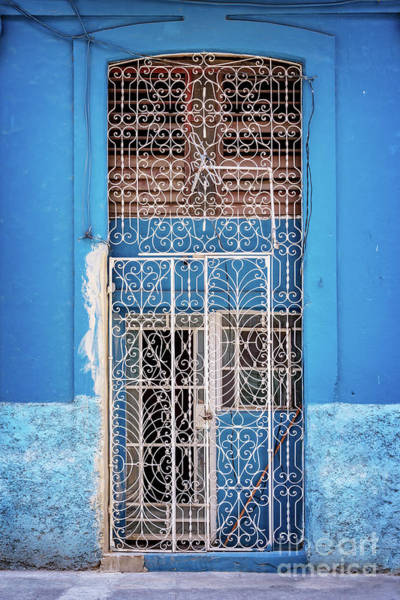 Wall Art - Photograph - Old Door In Havana by Delphimages Photo Creations