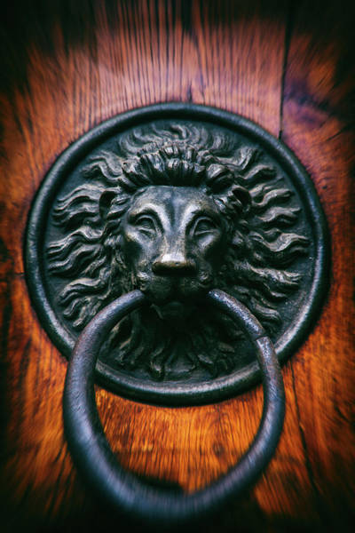 Wall Art - Photograph - Old Door Knocker With Lion Head by Artur Bogacki