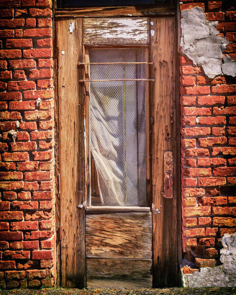 Photograph - Old Door On An Old Store by James Eddy