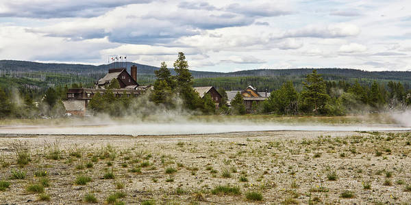 Photograph - Old Faithful Inn Hotel In The Yellowstone National Park by Tatiana Travelways