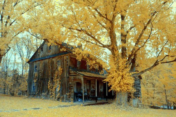 Photograph - Old Farm House In Infrared by Paul W Faust - Impressions of Light