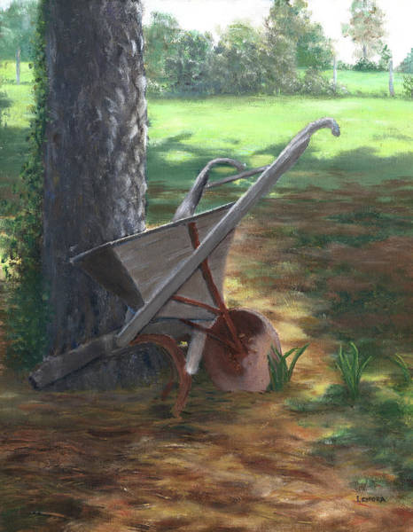 Painting - Old Farm Seeder, Louisiana by Lenora De Lude