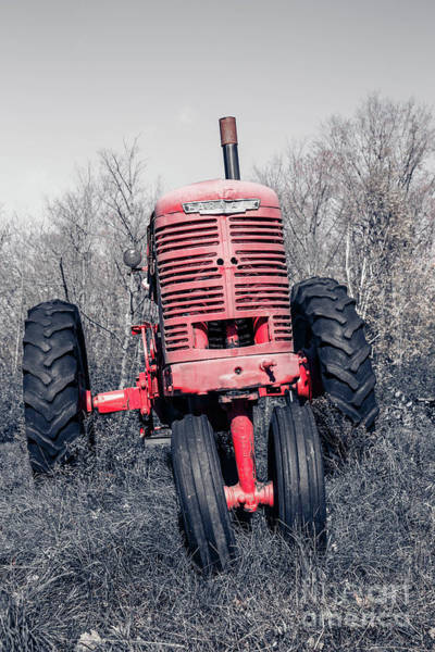 Wall Art - Photograph - Old Farmall Farm Tractor Color Separation Nh by Edward Fielding