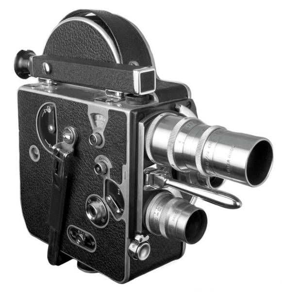 Wall Art - Photograph - Old Fashioned 16 Mm Movie Camera by Dial-a-view