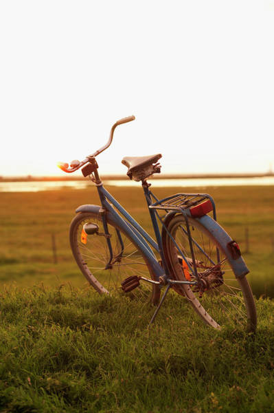 Skane Photograph - Old-fashioned Bike Photographed At Dusk by Elliot Elliot