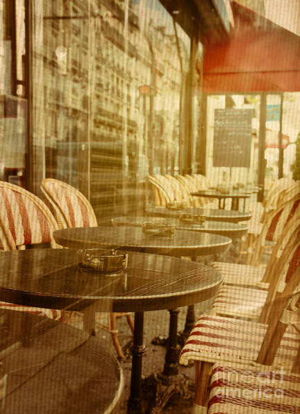 Wall Art - Photograph - Old-fashioned Coffee Terrace With by Ilolab