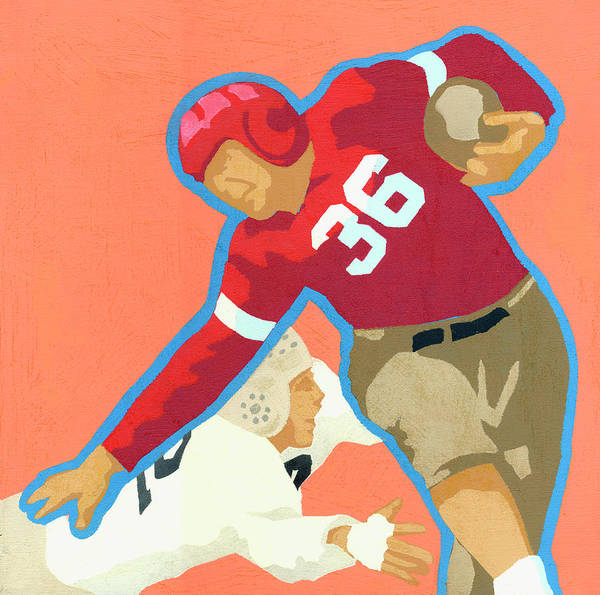 Sport Digital Art - Old-fashioned Football Players by Andy Bridge