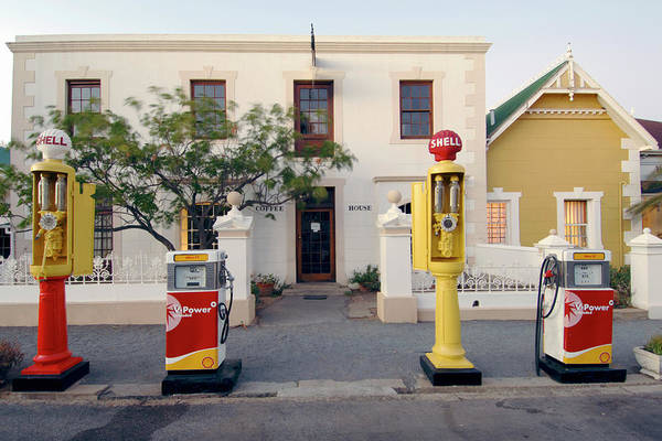 Pump Photograph - Old Fashioned Petrol Station And Coffee by Eric Nathan