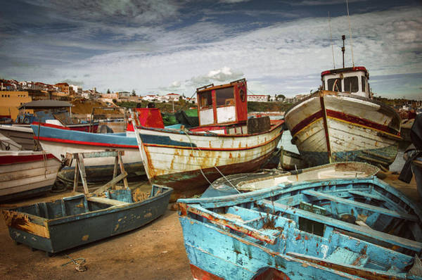 Wall Art - Photograph - Old Fishing Boats by Carlos Caetano