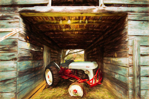 Photograph - Old Ford Waiting In The Barn Painting by Debra and Dave Vanderlaan